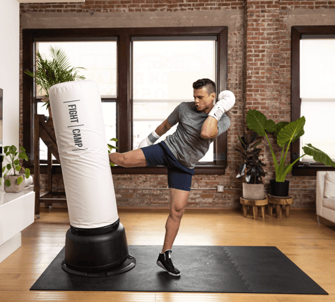 Kickboxing workout at home