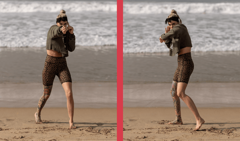 Shanie Smash Doing MMA Inspired HIIT Workout on the Beach
