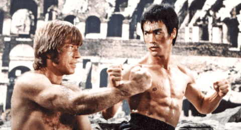 The Way of the Dragon Fight Scene with Bruce Lee and Chuck Norris