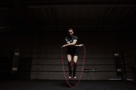 FightCamp Co-Founder & Trainer Tommy Duquette Jumping Rope