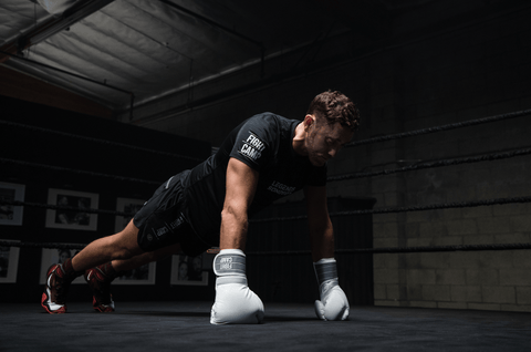 FightCamp Co-Founder & Trainer Tommy Duquette Doing Push-Ups