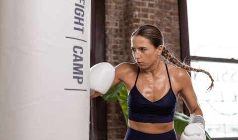 Boxer Doing A Boxing Workout After Eating Carbs