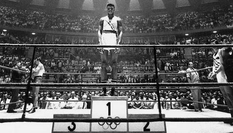 Muhammad Ali in 1960 Winning an Olympic Gold Medal