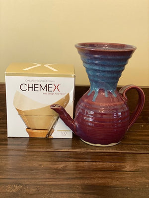 Purple/Blue UrbanUs Pour Over - Carafe