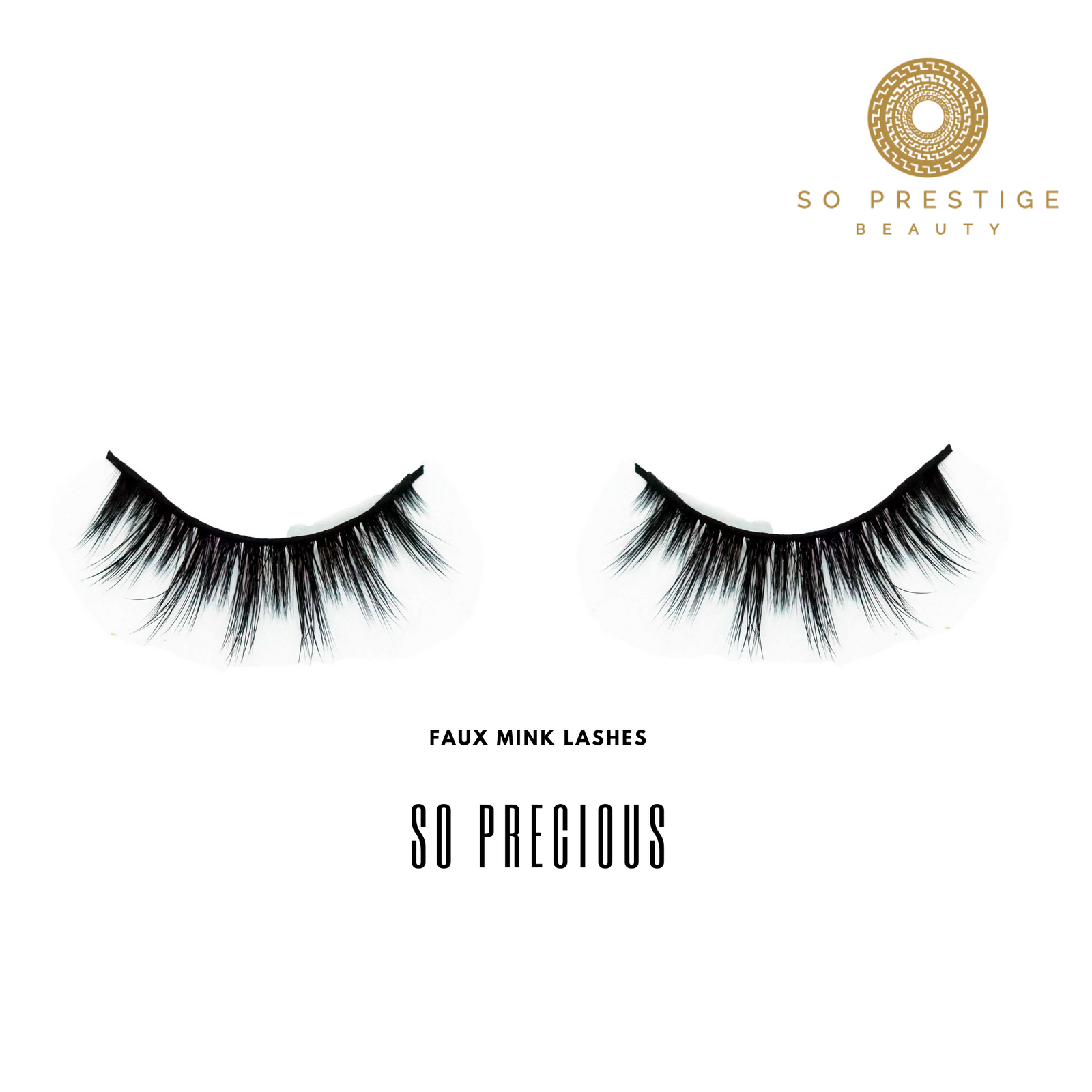 3D Faux Mink Eyelashes in the Style 'So Precious ' by So Prestige Beauty