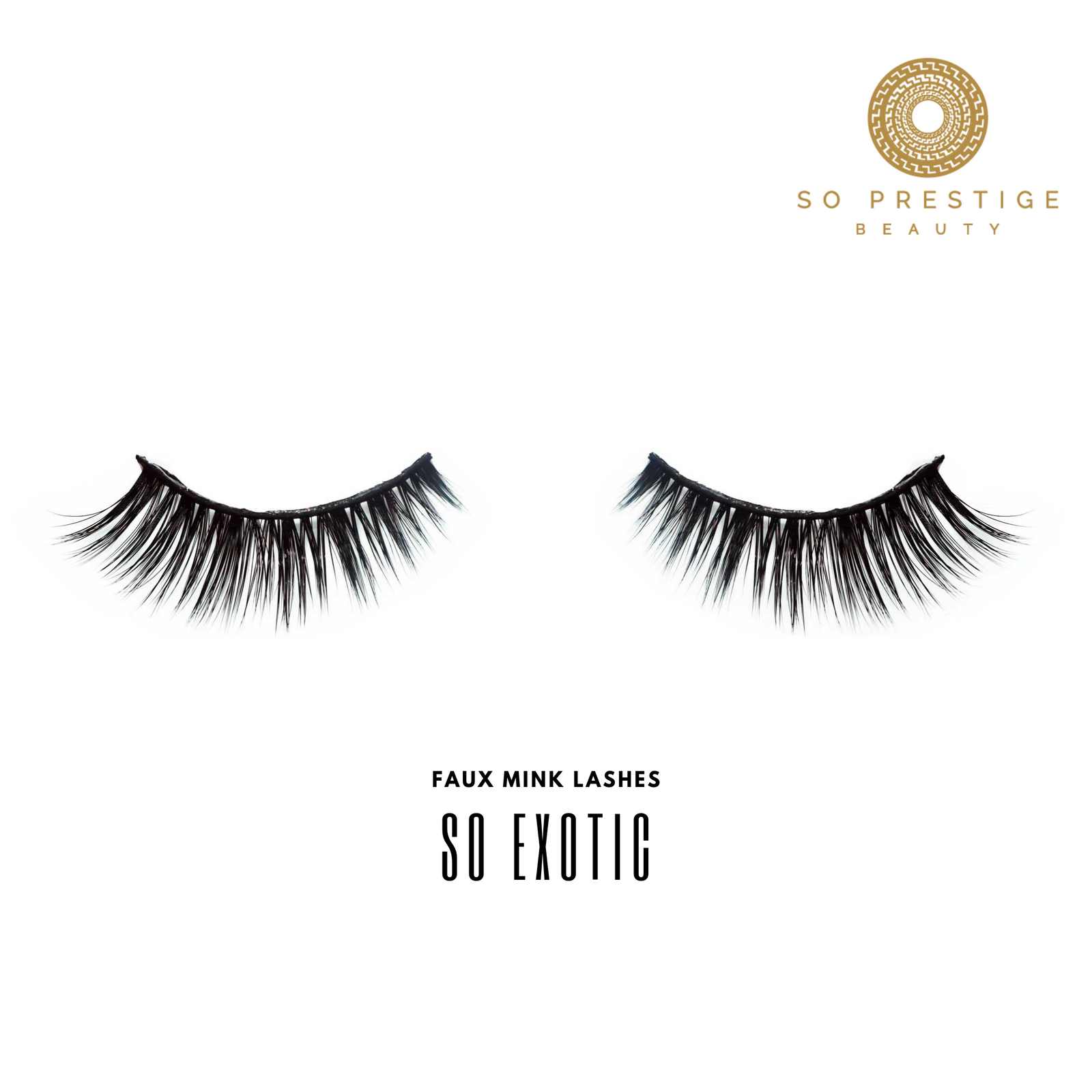 3D Faux Mink Eyelashes in the Style ' So Exotic' by So Prestige Beauty