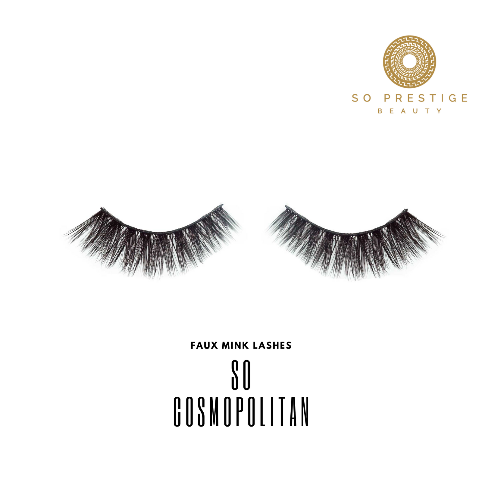 Faux Mink Eyelashes in the Style 'So Cosmopolitan ' by So Prestige Beauty