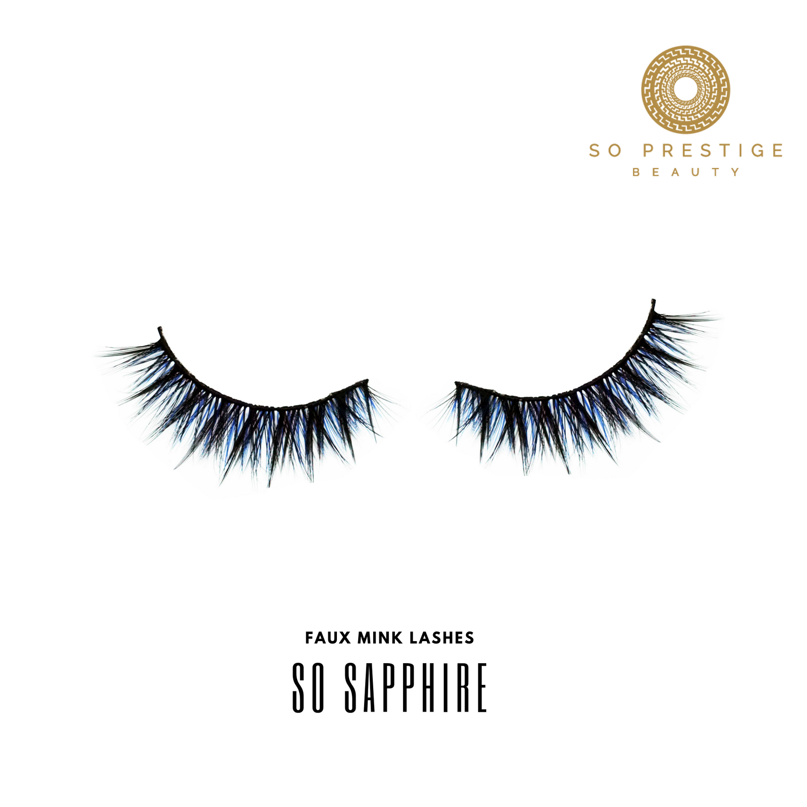 3D Faux Mink Eyelashes in the Style ' So Sapphire' by So Prestige Beauty