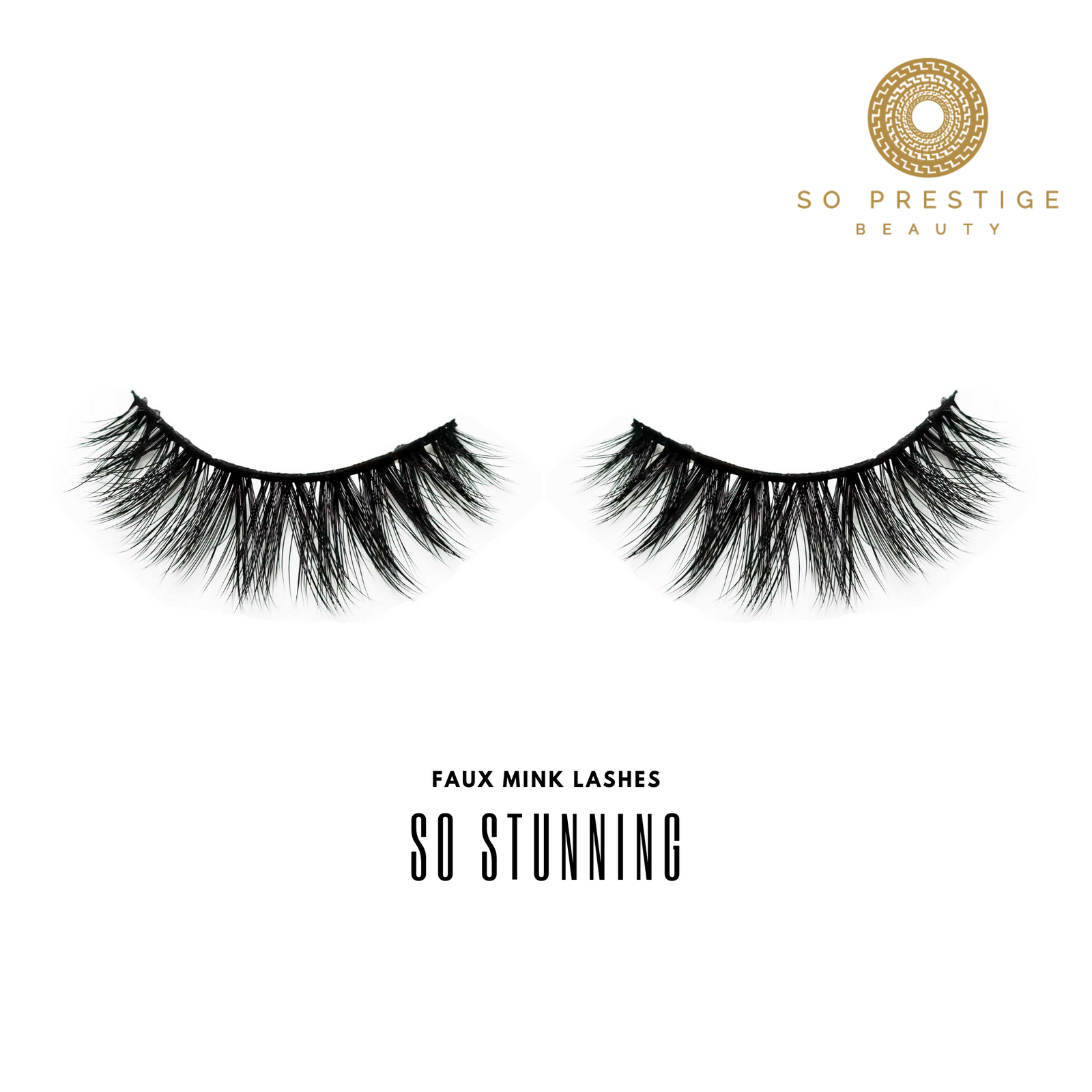 3D Faux Mink Eyelashes in the Style 'So Stunning ' by So Prestige Beauty
