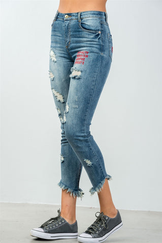 Caught in the Fray Denim Jeans