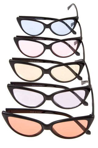 Color Lens Cat Eye Sunglasses