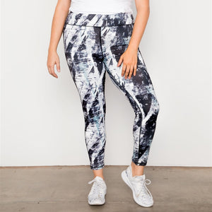 Plus Size Active Abstract Leggings