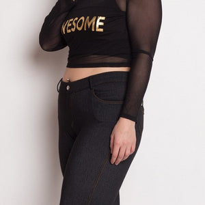 Plus 'Awesome' Mesh Top