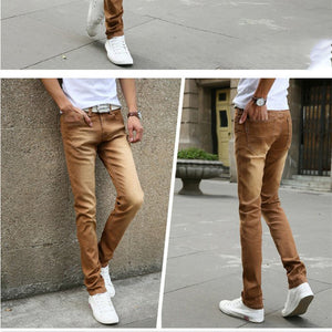 Men Slim Fit Pants w/ Stretch