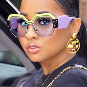 BB Bold Rimless Over-Sized Sunglasses