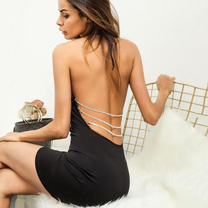 BB Backless, Sleeveless, Mini Dress