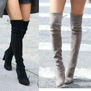 Over The Knee Boots Square High Heel Boots