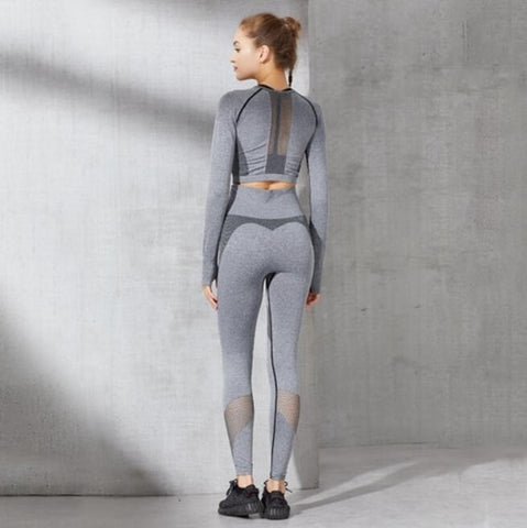 'Legendary' Cropped Top Fitness Set