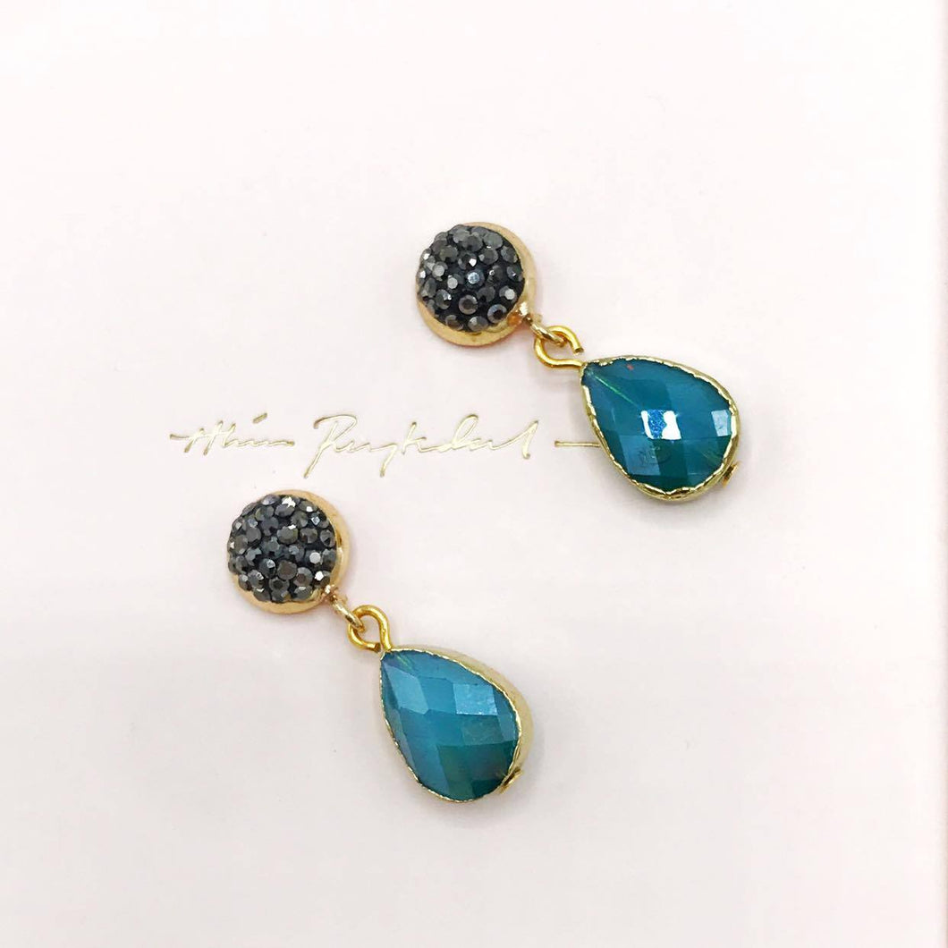 Quartz Earrings Turquoise
