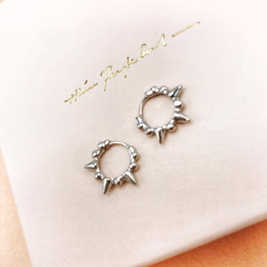Stud Earrings Punk Silver
