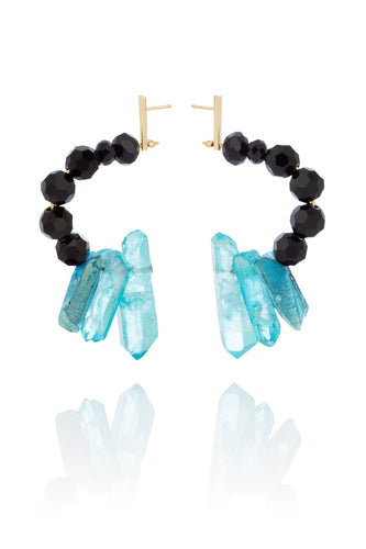 Turquoise Natural Quartz Earrings