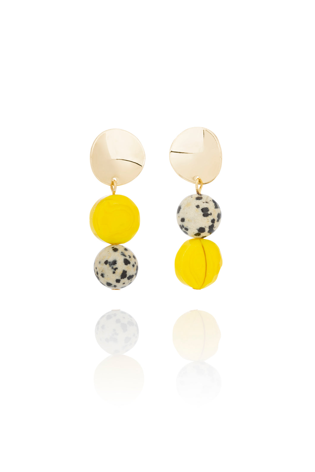 Wild Bird Yellow Earrings