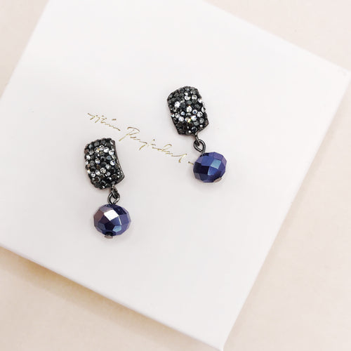 Earrings, Sparkly Blue, Limited edition