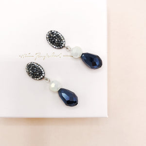 Earrings, Midnight Mint