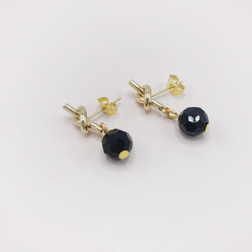 Earrings Knot, Black