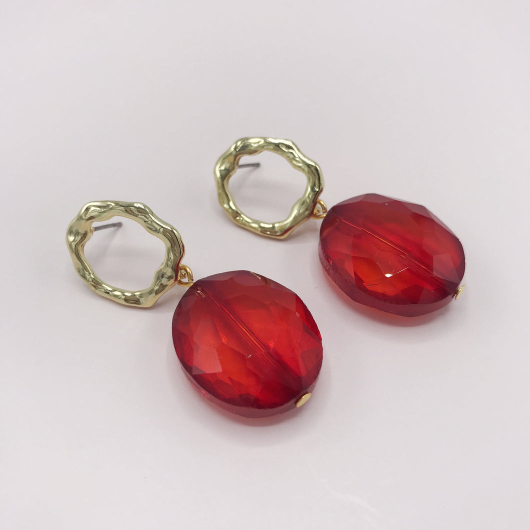 Earrings, Red Limited edition