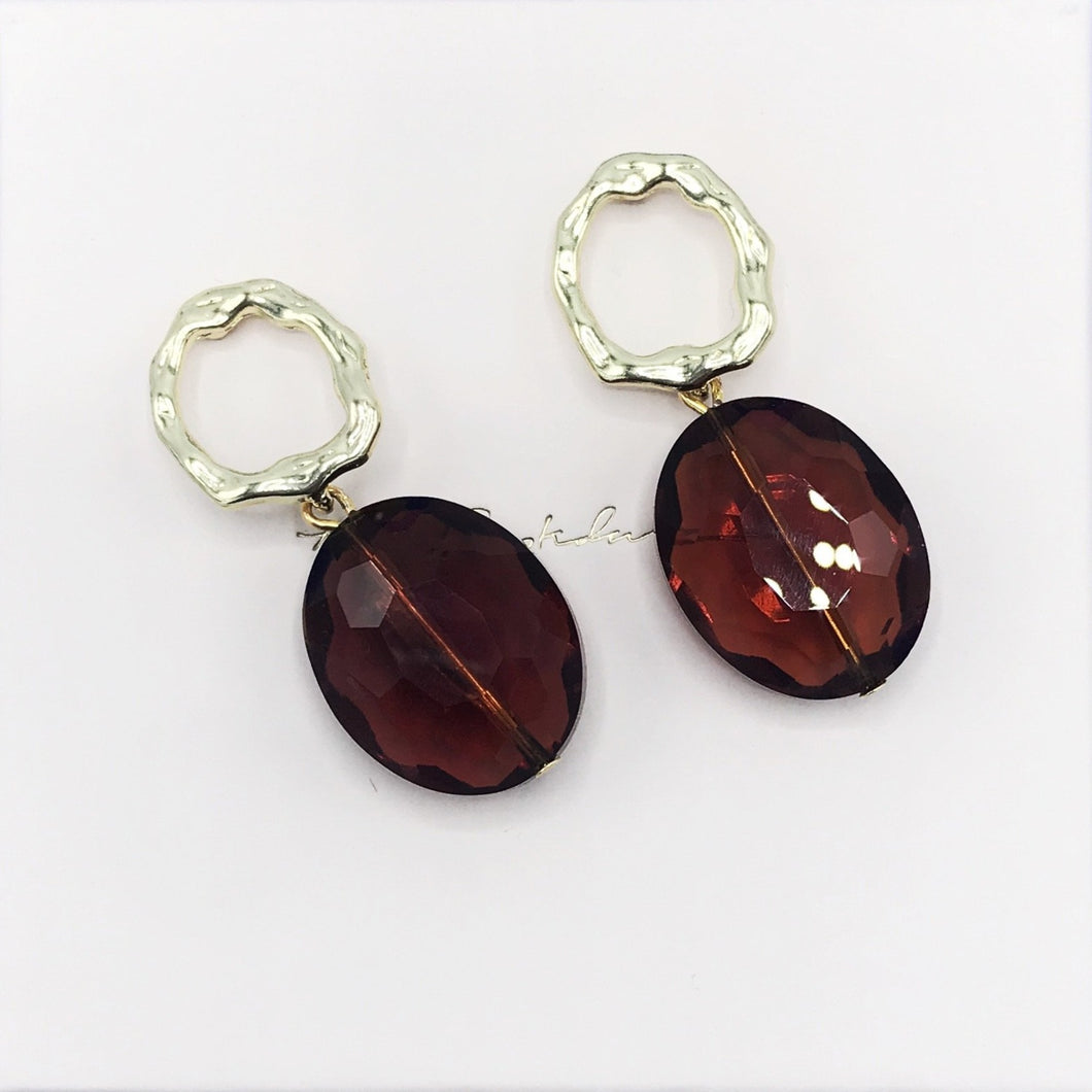 Earrings, Pecan Limited edition