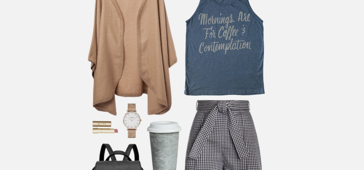 Geek Chic Outfit Inspiration: Coffee, Contemplation & Coziness