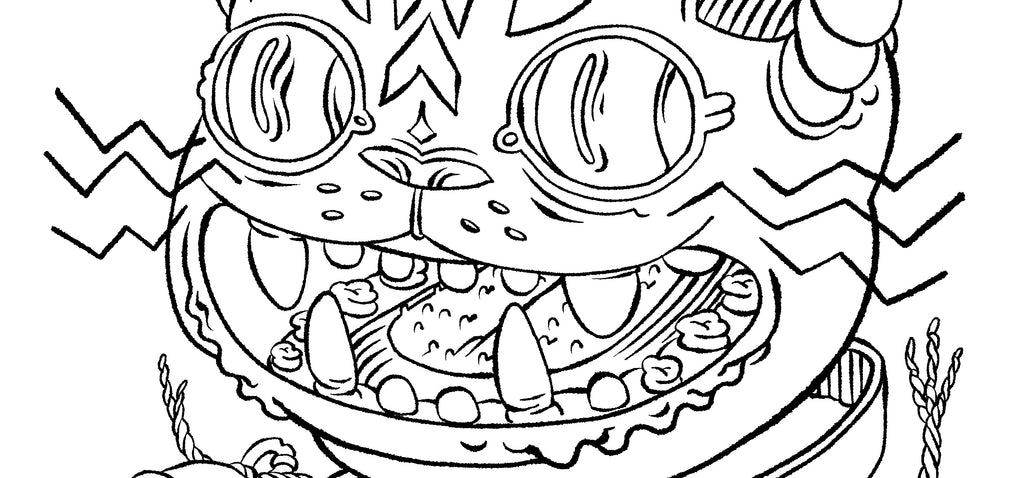 Space Cat Coloring Page | Saturday Morning Cartoons