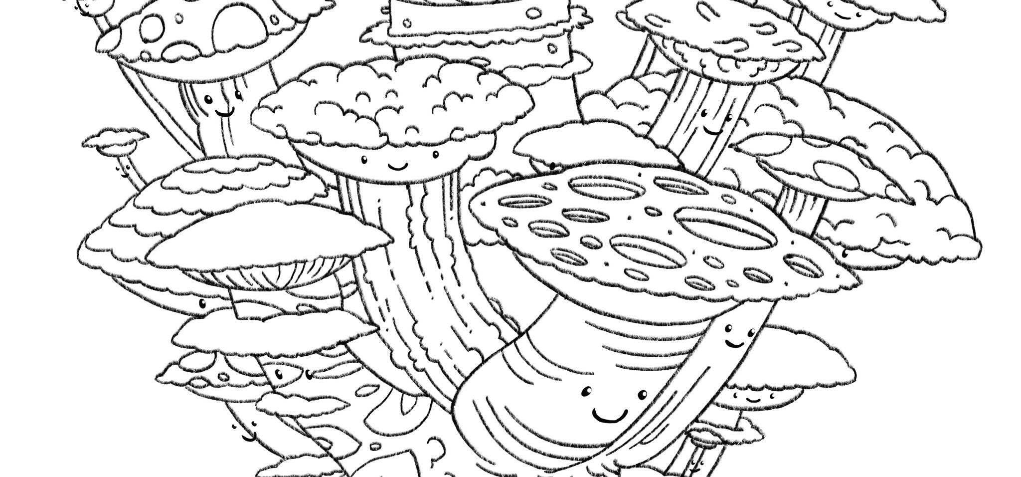 Space Shrooms Coloring Page | Saturday Morning Cartoons