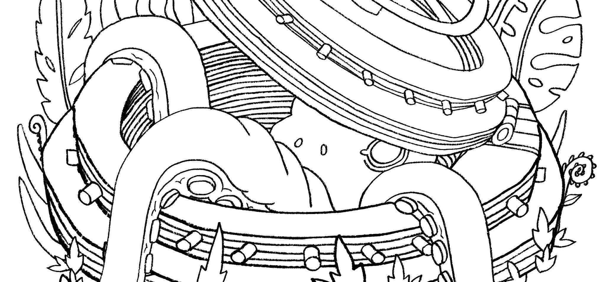 Octopod Free Coloring Page | Saturday Morning Cartoons