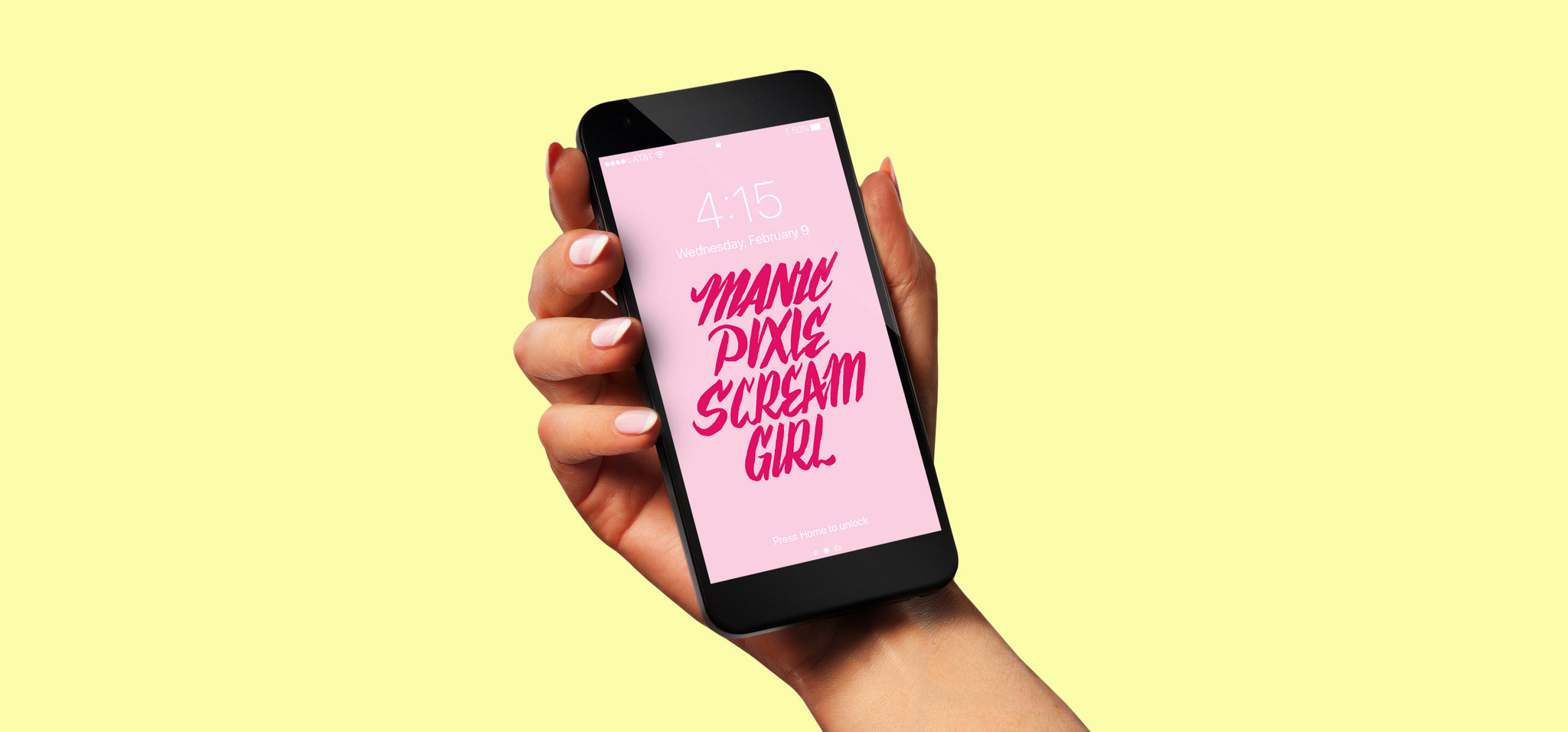 Manic Pixie Scream Girl | Free Phone Background