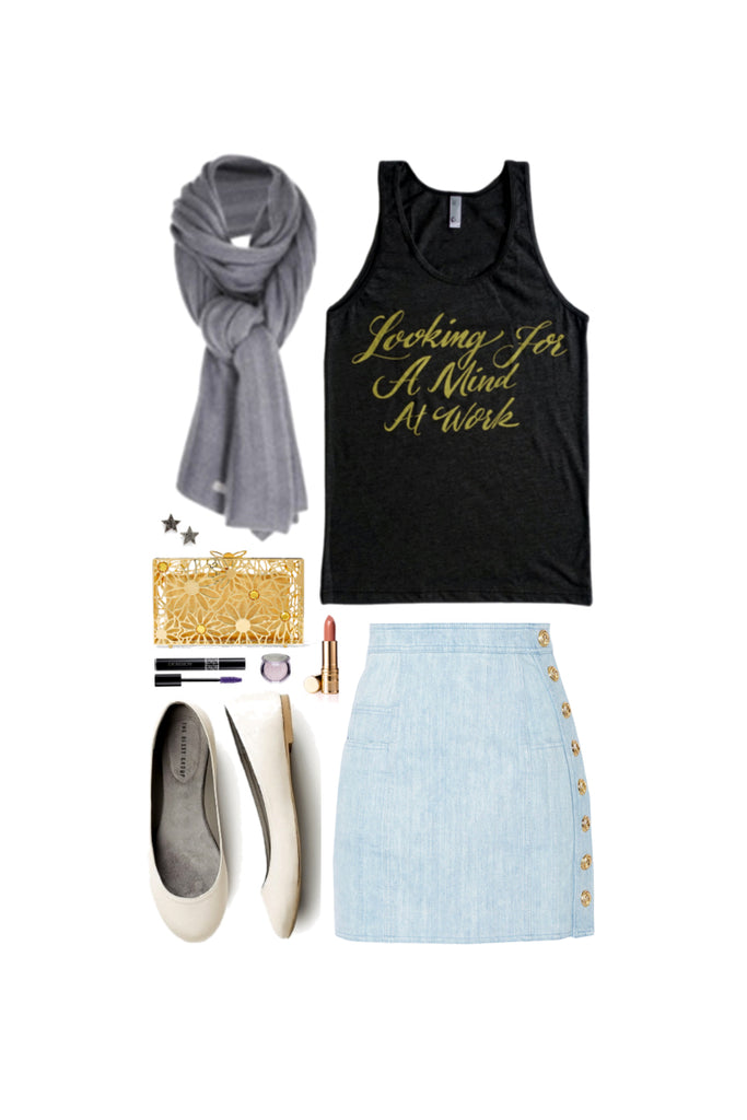 Geek Chic Outfit Inspiration: Just You Wait