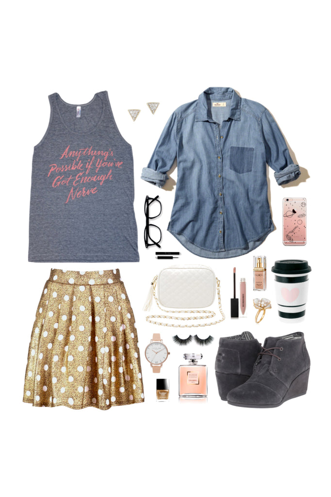 Geek Chic Outfit Inspiration: Silver Lining