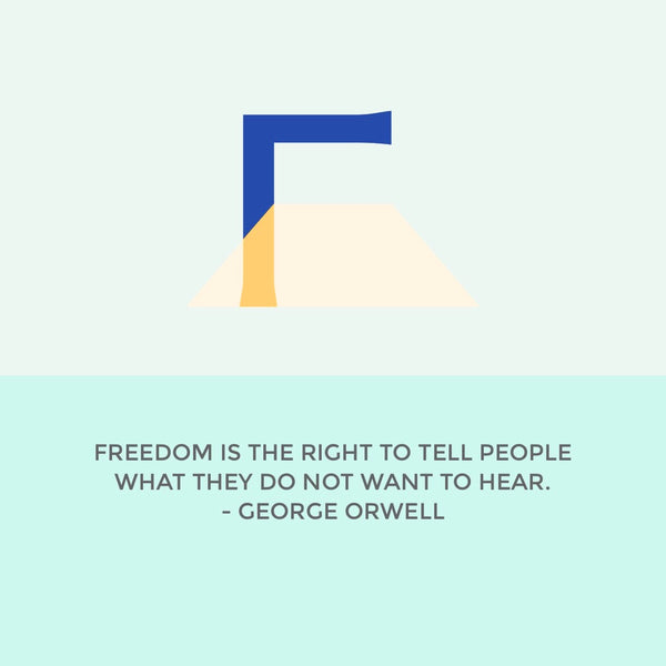 Start your week off right... with George Orwell