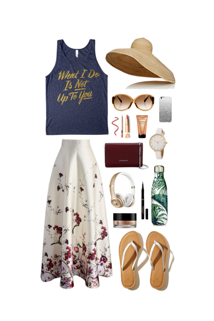 Geek Chic Outfit Inspiration: Paradise Island