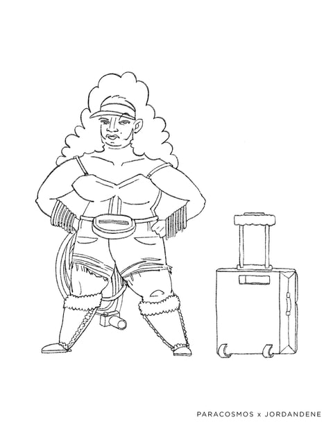 Wander Woman Free Coloring Page