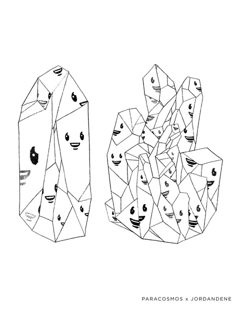 Happy Little Crystals Free Coloring Page