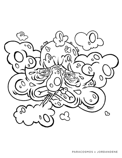 Clowdy Free Coloring Page