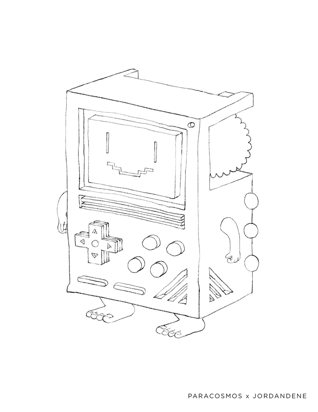 Gaming Love Free Coloring Page
