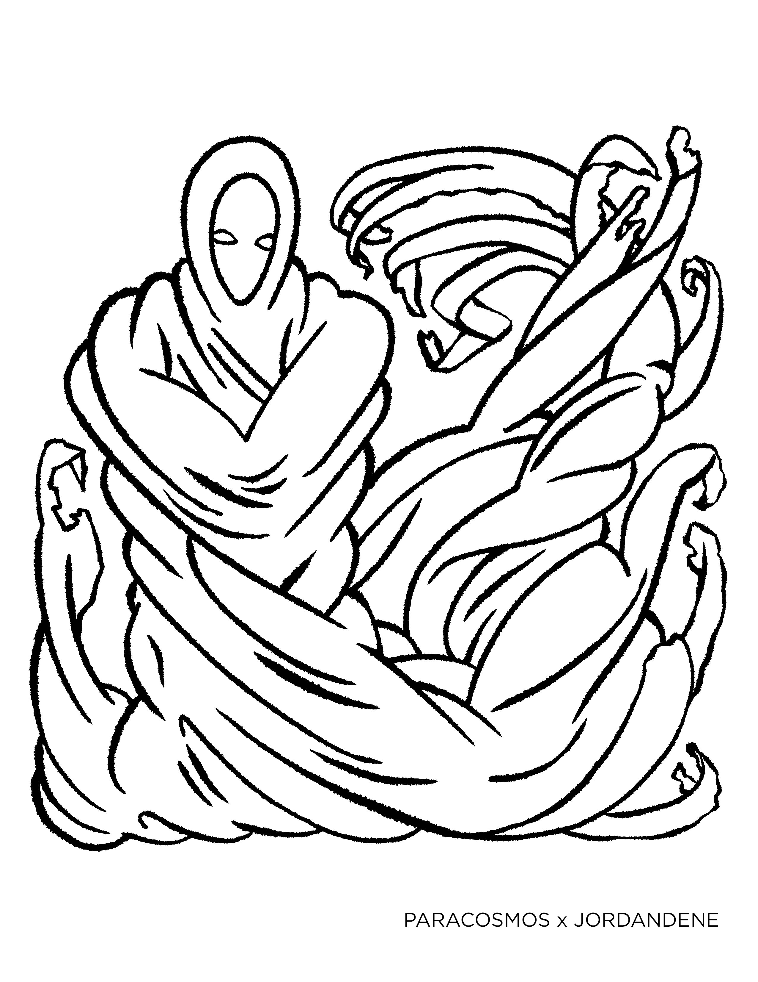 Ghoulish Free Coloring Page
