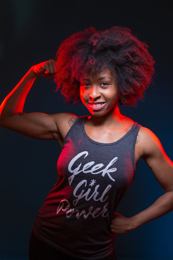 Geek Girl Power Unisex Tank Top
