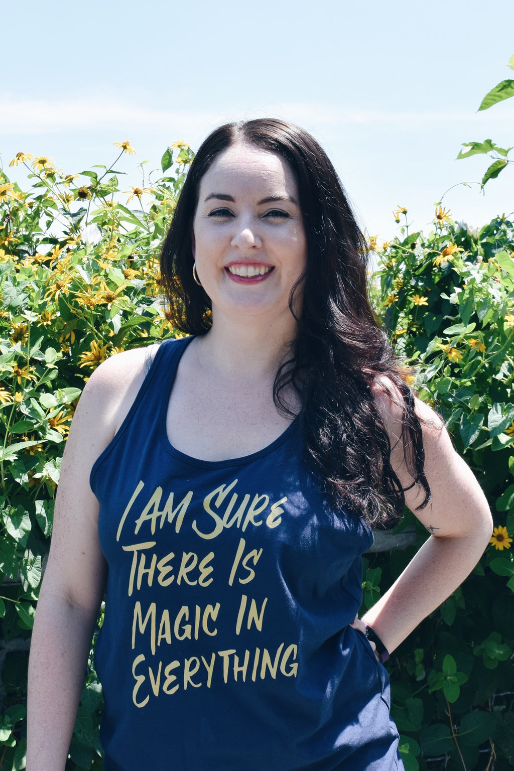 I Am Sure There is Magic in Everything Unisex Tank Top | The Secret Garden