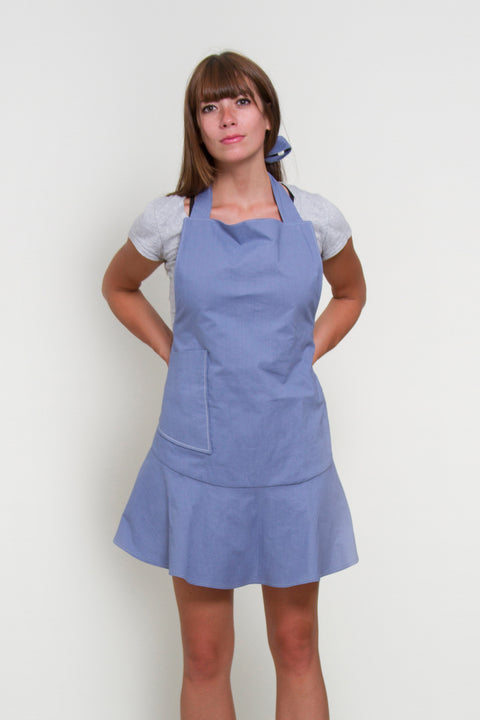 Solid Color Apron | Blue