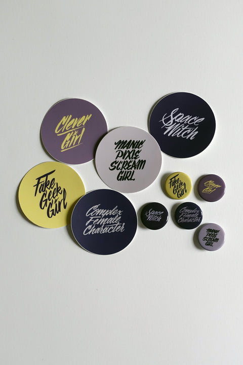 Maggs x Jordandene: Fangirl Stickers and Buttons