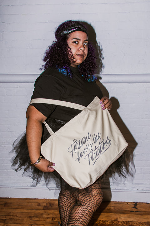 Fortune Favors the Flirtatious Large Eco Tote Bag | Mackenzi Lee